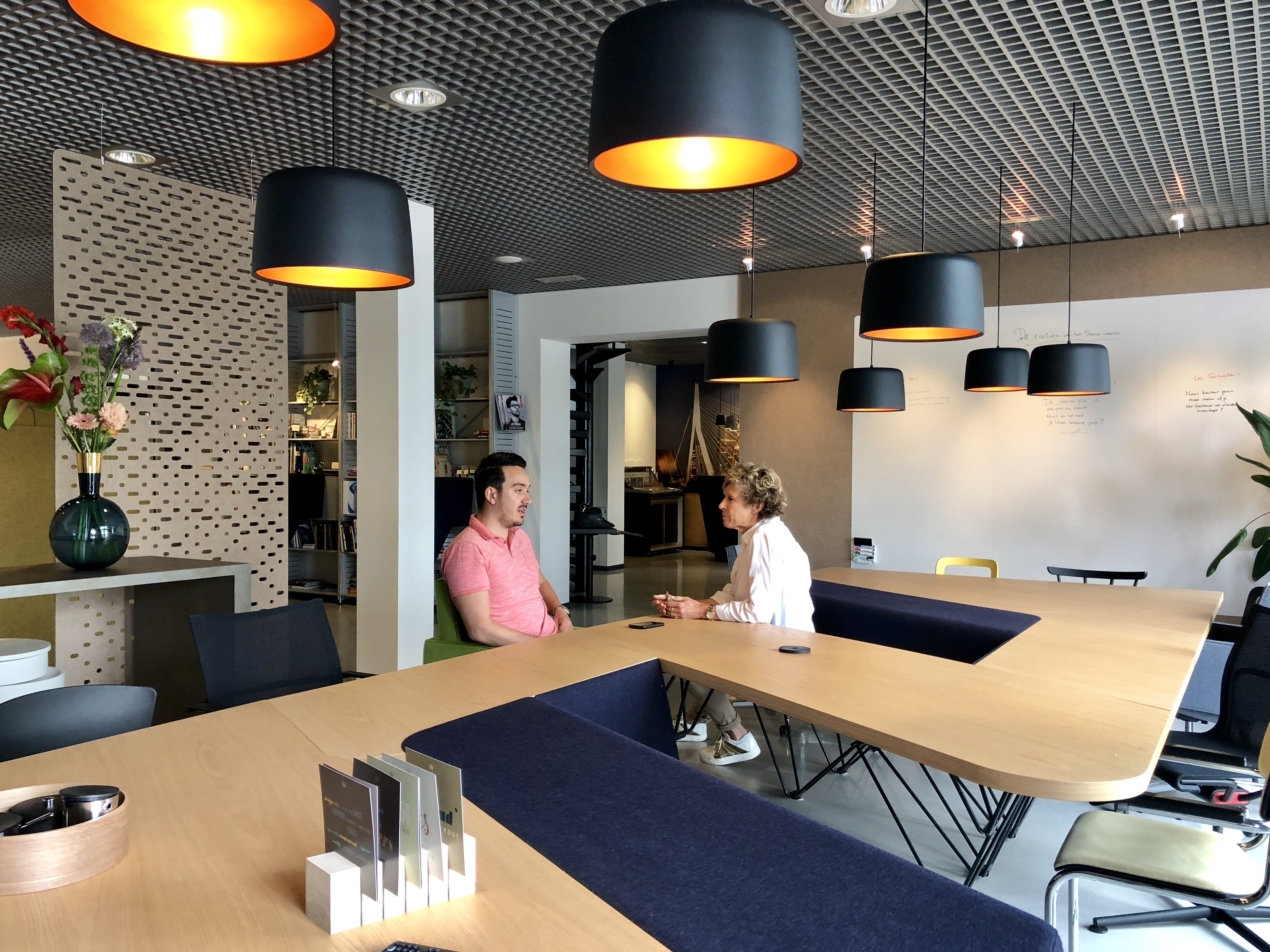 Nuon office heyligers design Headquarters Creating Space For Focused And Collaborative Work Related News Bostudio Architecture Pc Prooff Workspace Furniture Design Shaping The Future Of Work